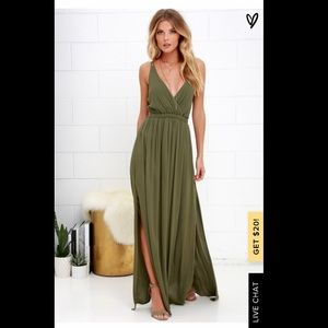 Lulus Lost in Paradise Green Maxi Dress